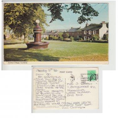 Cumbria Postcard Dufton Village. Mauritron #206
