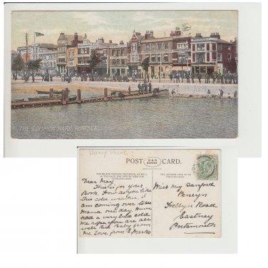 Hampshire   Postcard The Common Hard Portsea. Mauritron #217