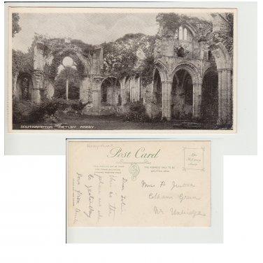 Hampshire   Postcard Southampton Netley Abbey. Mauritron #221