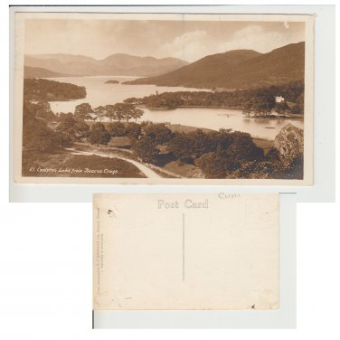 Cumbria Postcard Coniston Lake from Beacon Crags. Mauritron #245