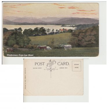 Cumbria Postcard Windermere from Low Wood Mauritron Item No. 264