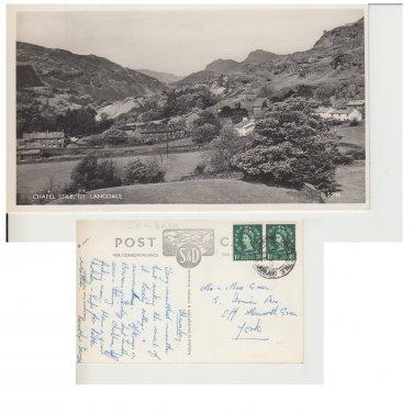 Cumbria Postcard Chapel Stile, Gt. Langdale. Mauritron #269