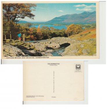 Cumbria Postcard Skiddaw & Ashness Bridge. Mauritron #274