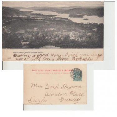 Cumbria Postcard Windermere from Orrest Head. Mauritron #284