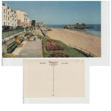 Pembrokeshire Postcard South Sands Tenby Mauritron 343