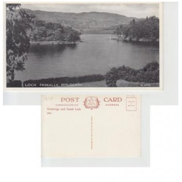 Perthshire Postcard Loch Faskally Pitlochry Mauritron 350
