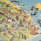 Skegness Map   Postcard. Mauritron PC396-213588