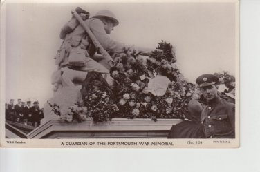 Guardian Portsmouth War Memorial Postcard. Mauritron PC491-213886
