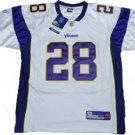 Peterson #28 Minnesota Vikings NFL White Jersey 52