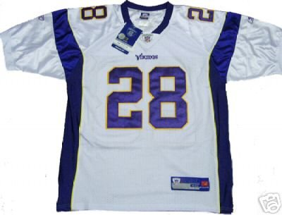 Peterson #28 Minnesota Vikings NFL White Jersey 50