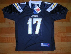 Rivers #17 San Diego Chargers NFL Jersey BL size 50