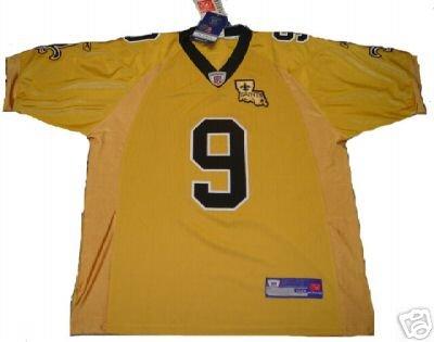 Drew Brees #9 New Orleans Saints NFL Gold Jersey 54