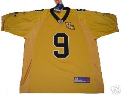 Drew Brees #9 New Orleans Saints NFL Gold Jersey 48