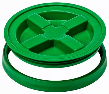 Gamma Seal Screw On Lids Fits 3.5 5 7 Gallon Buckets Food Storage Container Airtight Survival GREEN