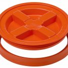 Gamma Seal Screw On Lids Fits 3.5 5 7 Gallon Buckets Food Storage Container Airtight Survival ORANGE