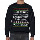 Ugly Christmas Sweater, Ugly Sweater, Game Of Thrones , Lannisters And Wine  Sweatshirt