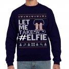 Ugly Christmas Sweater, Ugly Sweater, Let Me Take #Elfie Christmas  Sweatshirt