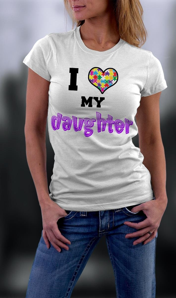 Autism Awareness, I Heart My Daughter Shirt