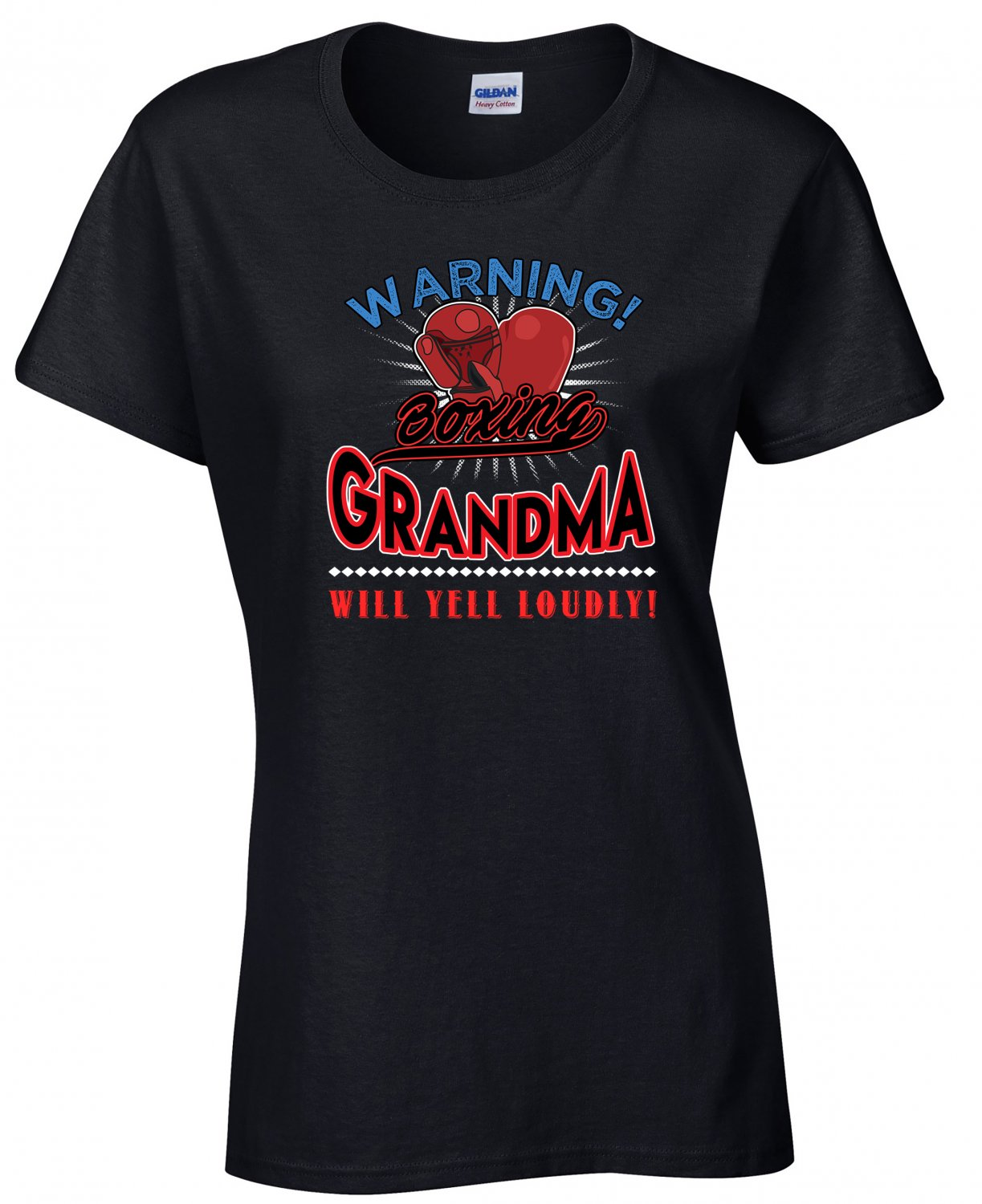 Boxing Grandma, Warning Boxing Grandma Will Yell Loudly Shirt