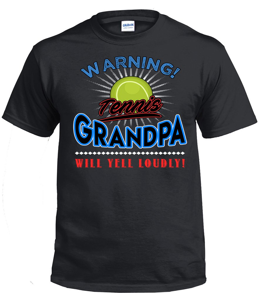 Tennis  Grandpa, Warning Tennis  Grandpa Will Yell Loudly Shirt