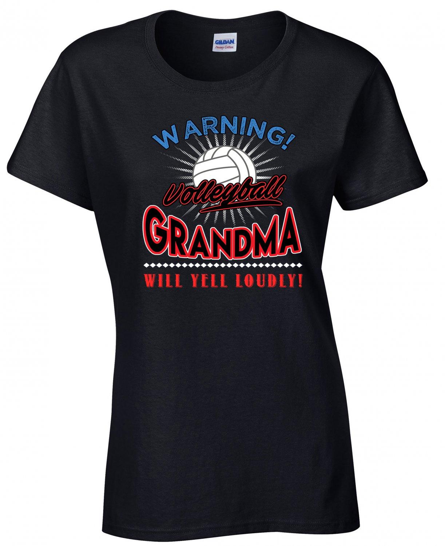 Volleyball  Grandma, Warning Volleyball  Grandma Will Yell Loudly Shirt