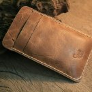 Rugged Leather iphone 4 Wallet & Card Holder/ iPhone pouch