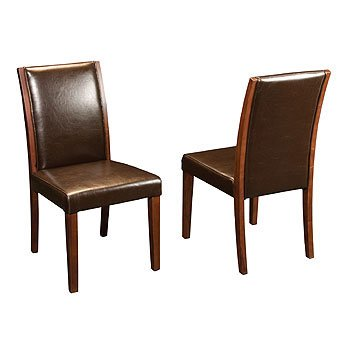 Elaina Leather Dining Chair - Brown