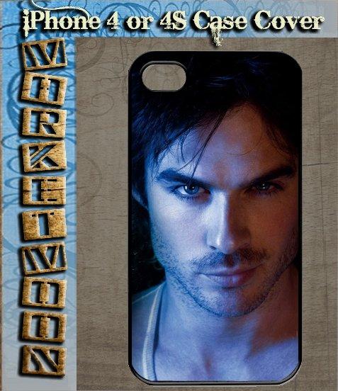 Damon Salvatore Ian Somerhalder Vampire Diaries Black Hard Case Apple iPhone 4 / 4s