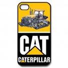 Design Cat Bulldozer Excavator Caterpillar Black Hard Case Apple iPhone 4 / 4s