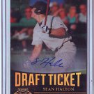 2011 Contenders Draft Ticket Autographs Sean Halton