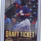 2011 Contenders Draft Ticket Autographs Jordan Akins