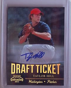 2011 Contenders Draft Ticket Autograph Taylor Hill