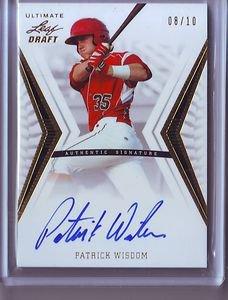 2012 Leaf Ultimate Draft Gold Patrick Wisdom Autograph #08/10