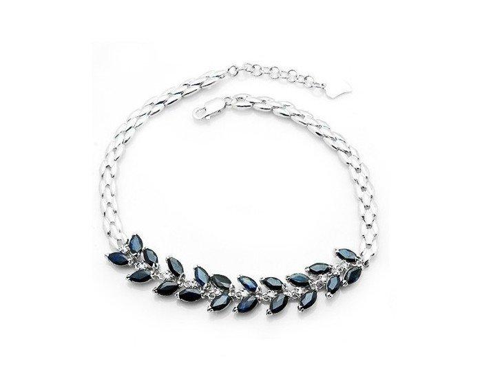 20pcs Natural Sapphire sterling silver bracelet