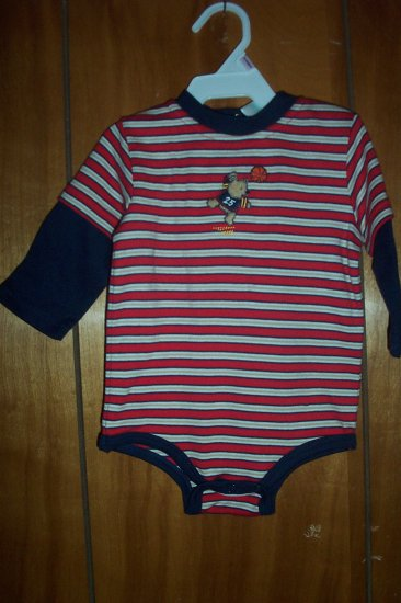 Infant Boys Okie Dokie Red White and Blue Romper - FREE SHIPPING