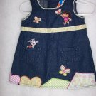 Dora The Explorer Jean Dress  - Size 12 Month FREE SHIPPING