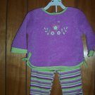 Size 18 Mos 2 Piece Purple & Green Pant Set - by Okie Dokie - FREE SHIPPING NWT