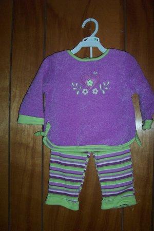 Size 18 Mos 2 Piece Purple & Green Pant Set - by Okie Dokie - FREE SHIPPING NWT