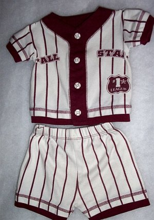 Infant Boy - 2 Piece Baseball Suit, 6-12 Mos - FREE SHIPPING