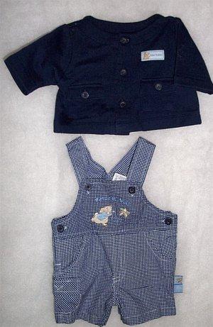 Preemie/Infant  Boy - 2 Piece Peter Rabbit  LIKE NEW FREE SHIPPING