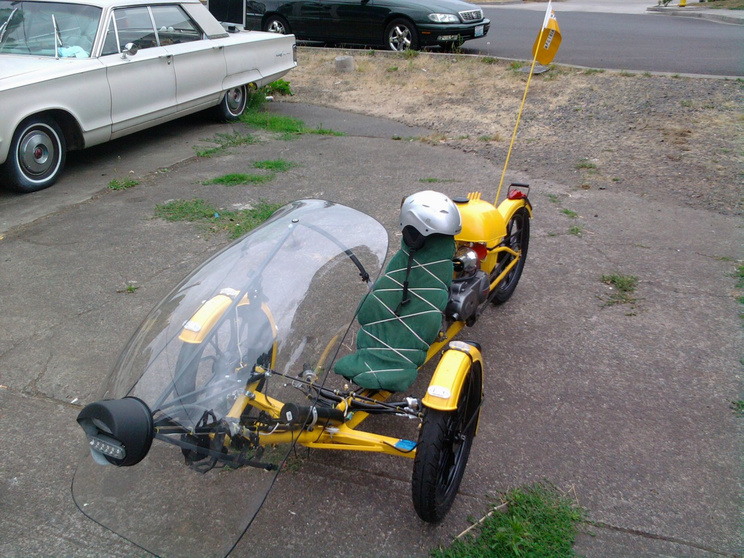 Bumble Bee Recumbent Tadpole 49cc Motor Assisted Bicycle