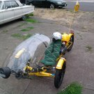 BUMBLE BEE RECUMBENT TADPOLE 49CC MOTOR ASSISTED BICYCLE HYBRID TRIKE