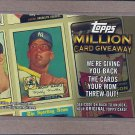 2010 Topps Baseball Million Card Giveaway Mickey Mantle #TMC-15