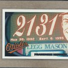 2010 Topps Baseball Orioles History #428