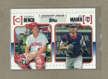 2010 Topps Baseball Legendary Lineage Bench and Mauer #LL 31