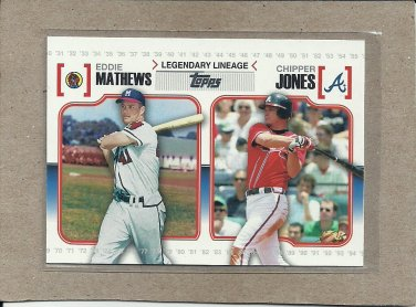 2010 Topps Baseball Legendary Lineage Mathews and Jones #LL 34