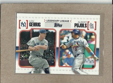 2010 Topps Baseball Legendary Lineage Gehrig and Pujols #LL 42
