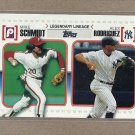 2010 Topps Baseball Legendary Lineage Schmidt and Rodriguez #LL43
