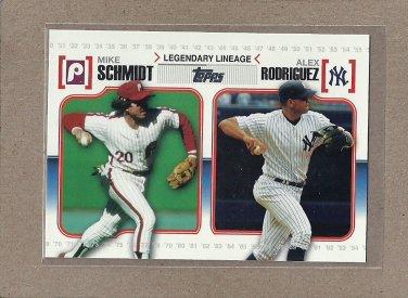 2010 Topps Baseball Legendary Lineage Schmidt and Rodriguez #LL43