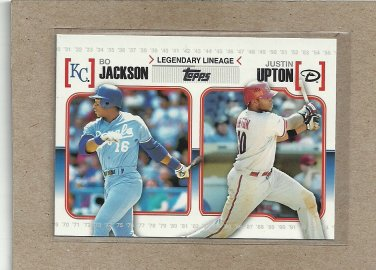 2010 Topps Baseball Legendary Lineage Jackson and Upton #LL44